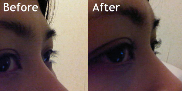 eyelash before - after