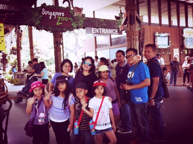 At Singapore Zoo Entrance