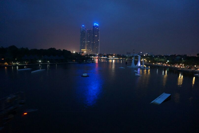 ancol at night